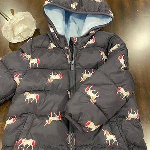 OLD NAVY Unicorn Fleece Puffer Jacket
